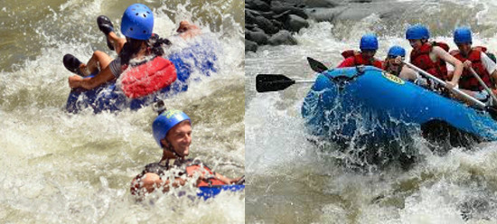 White Water Rafting and Tubing Combo